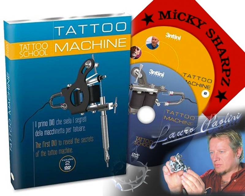 Tattoo machine dvd instructional dvds tattoo books for How to tattoo dvd