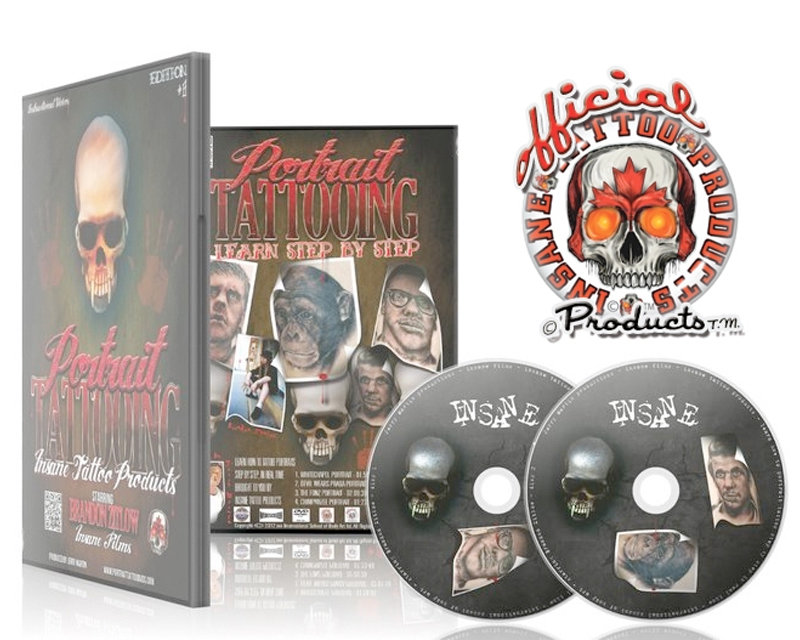 Portrait tattoo dvd instructional dvds tattoo books for How to tattoo dvd