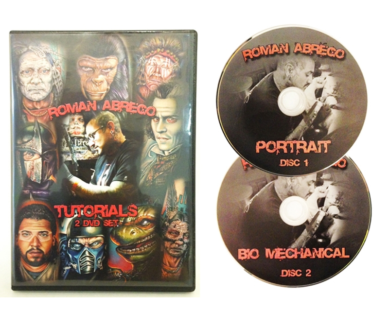 Roman 2 disc dvd dvds instructivo dvd 39 s y libros de for How to tattoo dvd