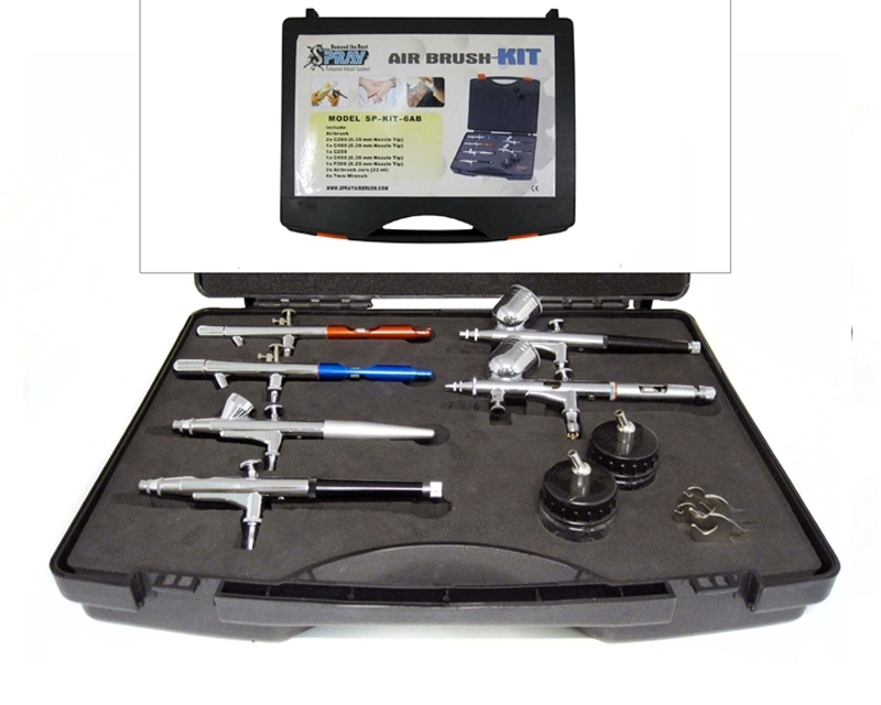6 airbrush kit airbrush kits airbrush supplies for Airbrush tattoo kit