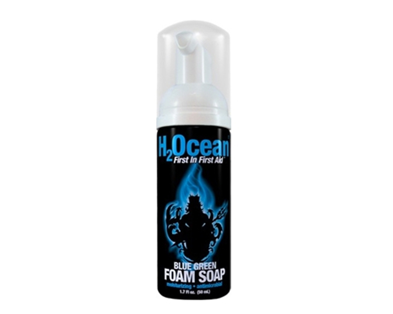 Blue green foam soap h2ocean products tattoo for Soap to wash tattoo