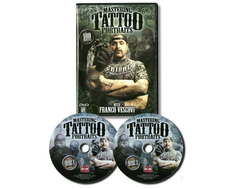 Mastering tattoo portraits dvd with franco vescovi for How to tattoo dvd