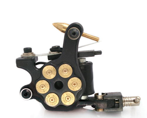 Bullet tattoo machine 8 wrap tattoo machines coil for Shader tattoo machine