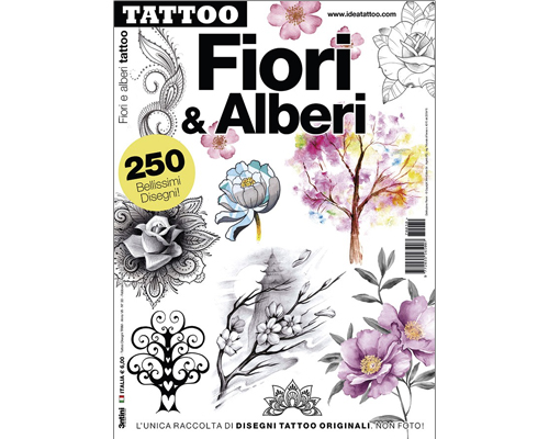 Flower & Tree Tattoo Flash Book