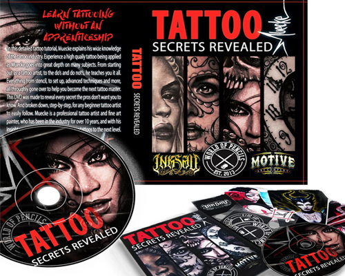Tattoo secrets revelaed dvd instructional dvds tattoo for How to tattoo dvd