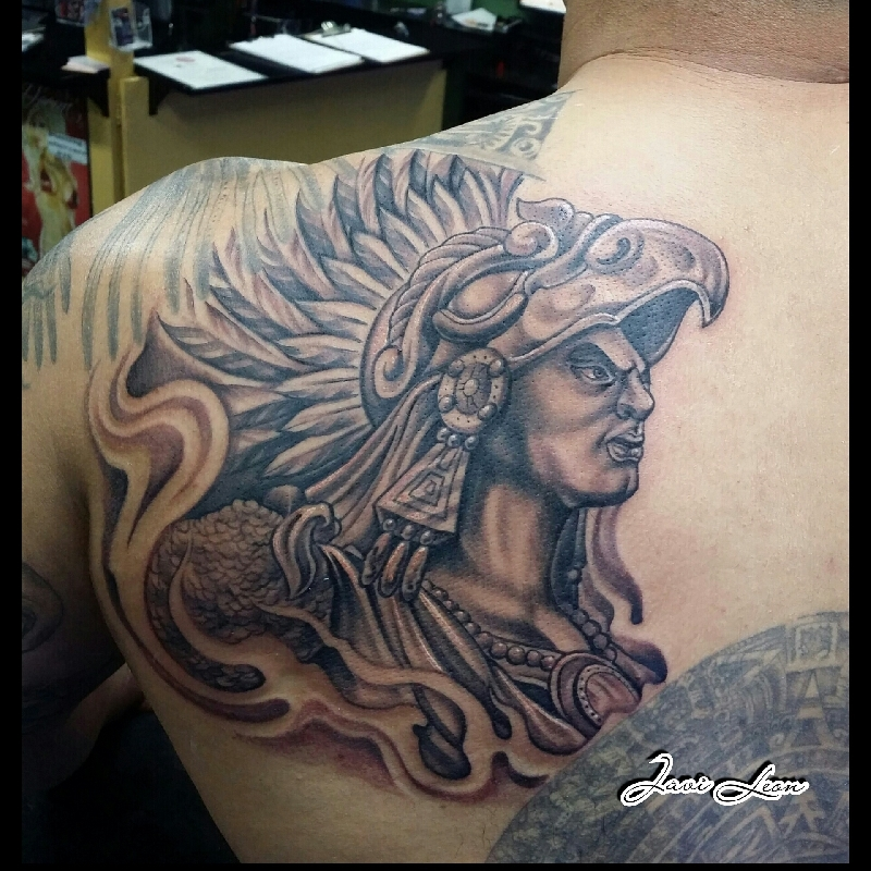 Eagle Warrior Aztec Day Of The Dead Worldwide Tattoo Supply