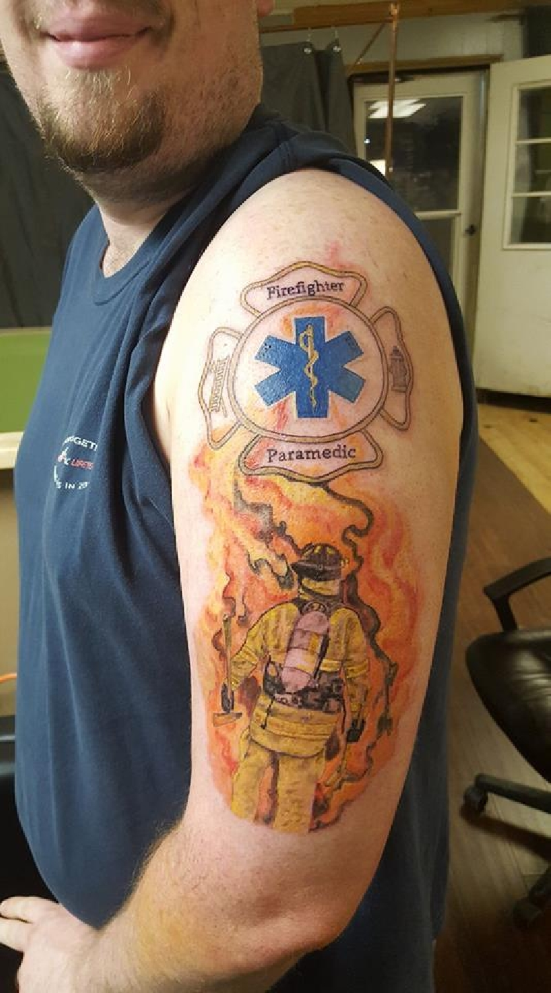 492875c6fdab4 EMS Firefighter/Paramedic - Color - Worldwide Tattoo Supply