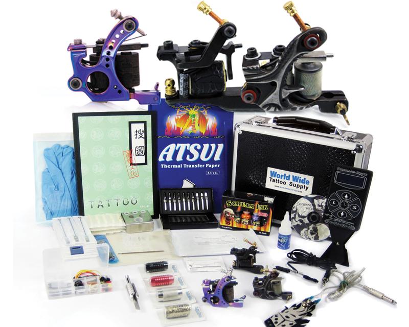Apprentice tattoo kit 4 apprentice tattoo kit with case for Starter tattoo kits