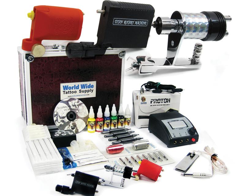 Rotary Tattoo Kit - Apprentice Tattoo Kit with Case - Tattoo Kits ...