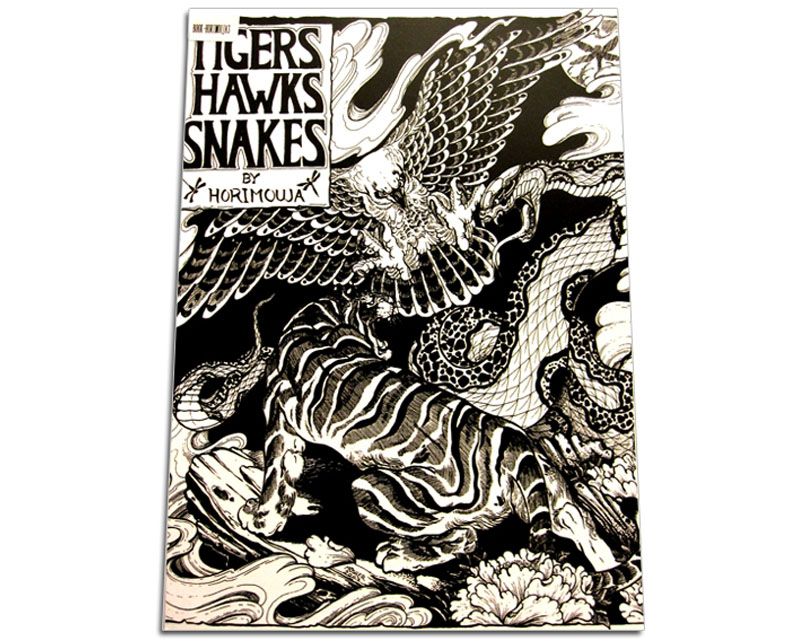 Tigers & Hawks & Snakes Tattoo Flash Book by Horimouja - Artist ...