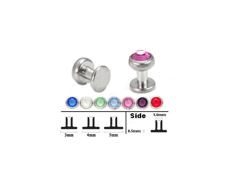 Details about  /1PC Titanium Dermal Anchor Skin Diver CZ Gem Fashion Body Piercing Jewelry