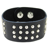 Black Leather Cuff (Design A1)