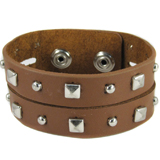 Light Brown Leather Cuff (Design A2)