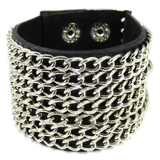 Black Leather Cuff (Design B1)