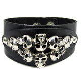 Black Leather Cuff (Design C2)