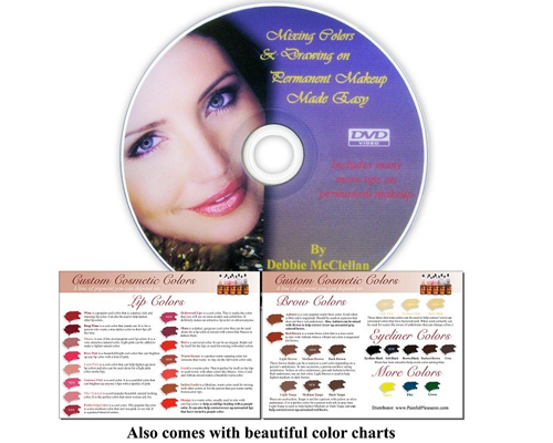 Mixing Color And Drawing On Permanent Makeup Made Easy